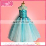Cartoon movie character paleturquoise fairy style overalls gauze dress halloween costume