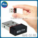 Mini USB wireless Lan Card, Mini 150Mbps 150M USB WiFi Wireless Network Card 802.11 n/g/b LAN Adapter,Mini USB Lan Card