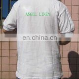 white cotton polo shirt with logo printing for restaurant/shop