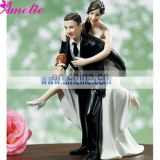 A07393 2015 New Arrival Resin Bride Groom Cake Topper