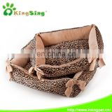 dog bed/Leopard square pet bed 2size/set