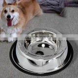 stainless steel Anti Skid Colored Pet Bowls