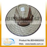 Hot new products for 2014 new design cheap men summer rattan wicker hats