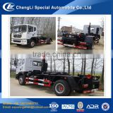 chinese cheapest hook type container rear loader garbage truck for sale