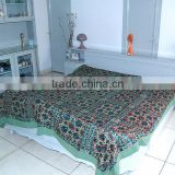 Handmade Mirror Work Embroidery Bedspread Bedcover