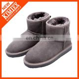 winter wool grey classical ankle snow boots