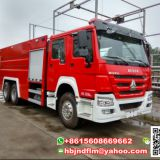 Sinotruck JDF5257GXFPM120W heavy duty foam powder fire truck with stainless steel tank