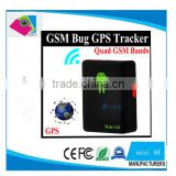 Smallest Portable mini gps Tracker A8 gps GSM GPRS GPS Global Locator For Car Real-Time Tracking Device With SOS Button