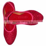 Indian Pink Color Ladies Mojari