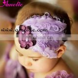 AHB08 Purple Handmade Feather Headbands