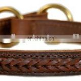 100% Genuine Handmade leather dog collars and Leashes