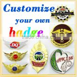 Professional metal sheriff star badge with CE certificate