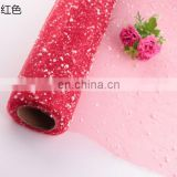 colorful and shinny white foam mesh tulle for flower wrapping flower wrapping mesh
