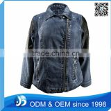 Custom Women <b>Denim</b> <b>Jacket</b>, Side Zipper <b>Jacket</b>