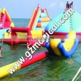 Exciting Inflatable Water Park With Big Slide Bouncer, seasaw