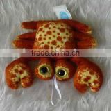 Crab shaped plush pendant