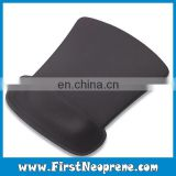 Plain Black Color Humanized Design Mouse Pad Wrist release