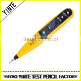 China factory digital voltage screwdriver type tester Electric pen Electroprobe with blue screen display