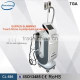 5-1 Tripolar RF Ultrasonic Cavitation Skin Tightening Slimming Machine Cooling Therapy Mahine Vacuum Fat Loss Machine