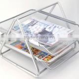 2-tier desk organizer office documents tray