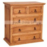 Pine Country Dresser with 5 Drawers