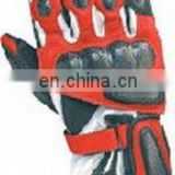 Top quality genuine cow hide leather full Motorbike protection racing gloves.Motor Cycle Gloves