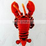 plush stuffed lobster windows decoration/ plush sea animal toy