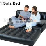 inflatable flocked air bed & 5 in 1 sofa bed,inflatable sofa