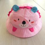 super cute pink bear cap for children