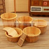 foot message spa wooden foot bath bucket