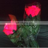 colorful Artificial rose flower with LED blinking light