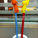 2014 American 3D movie Mr. peabody & Sherman silicone chopstick