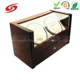 Mabuchi Motor Dual Automatic Glossy Wooden Watch Winder