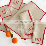 100% natural linen table napkins with monogramming