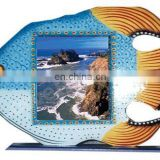 PAINTED FISH DESIGN WOODEN PHOTO FRAME