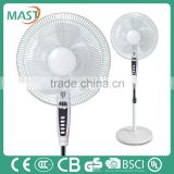 16 Inches DC stand hot selling brushless fan 7.5 hour With Remote Control Made in MAST Anhui