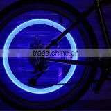 2016 new color change led flashlight cycling Bicycle Tire Wheel Led Flash Light Valve for