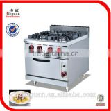 Stainless steel commerical gas Cooker with 4-burner&oven (GH-987A)