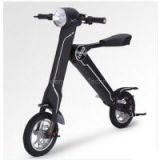 Black Folding Electric Bike Kit 35km/h Load 150kg Foldable Bike with CE Certificate
