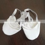Girls white rhythmic gymnastics shoes/kids gymnastic shoes