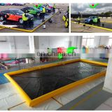 Commercial car mat easy clean water PVC Tarpaulin inflatable wash car mat