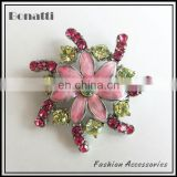 flower shoe accessories with shinning crystal