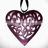 Heart shaped metal wall decor, metal heart shape dcoration hanging, decorative heart wall hanging,