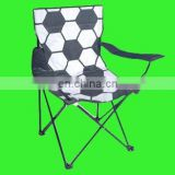 Factory direct sell promotion football folding beach chair with football logo