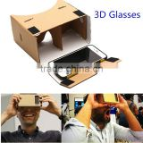 New Paper Virtual Reality 3D Video VR Box Headset Glasses Google Cardboard 3D Glasses for Mobile Phone