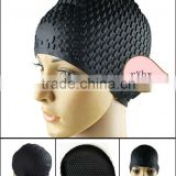 100% silicon swimming caps womens waterproof swim caps