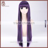 80cm Synthetic Long Striaght Dark Purple Cosplay Harajuku Maid Wigs