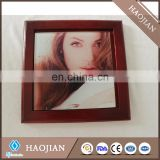 "Standard frames in Rosewood, Fits 1- 4.25"" x 4.25"" tile for sublimation with DIY logo"