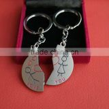 Moon metal keychain or metal keyring