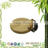 Bamboo Radian Corner Shape Cutting Board Kitchen Active Antibacterial Butcher Block With Mozzaluna Knife